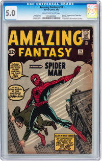 Amazing Fantasy #15 (Marvel, 1962) CGC VG/FN 5.0 Cream to off-white pages