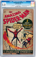 Silver Age (1956-1969):Superhero, The Amazing Spider-Man #1 (Marvel, 1963) CGC VG/FN 5.0 Cream tooff-white pages....