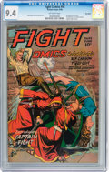 Golden Age (1938-1955):War, Fight Comics #44 Big Apple pedigree (Fiction House, 1946) CGC NM9.4 Off-white pages....