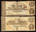 Confederate Notes:1863 Issues, 1863 $20 and $5.. ... (Total: 2 notes)