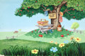 Animation Art:Production Drawing, Picnic Scene Background Animation Art (Disney, undated)....