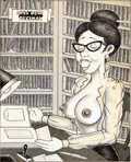 "Original Comic Art:Splash Pages, Jay Lynch (signing as ""Finch"") Turned-On Cuties Page 10""Miss Dewi Decimal"" Pin-Up Original Art (Golden Gate Publi..."