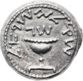 Ancients, Ancients: Jewish War (66 - 70 AD). AR shekel (22.6 mm, 14.22 gm, 12 h)....