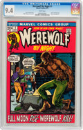 Bronze Age (1970-1979):Horror, Werewolf by Night #1 (Marvel, 1972) CGC NM 9.4 White pages....