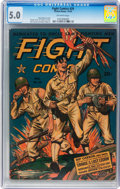 Golden Age (1938-1955):War, Fight Comics #29 (Fiction House, 1943) CGC VG/FN 5.0 Off-whitepages....