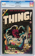 Golden Age (1938-1955):Horror, The Thing! #17 (Charlton, 1954) CGC FN 6.0 Off-white to whitepages....