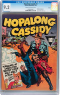 Golden Age (1938-1955):Western, Hopalong Cassidy #1 Denver pedigree (Fawcett Publications, 1943)CGC NM- 9.2 Cream to off-white pages....