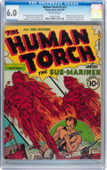 Golden Age (1938-1955):Superhero, The Human Torch #2 (#1) (Timely, 1940) CGC FN 6.0 Off-white pages....