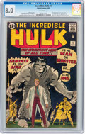 Silver Age (1956-1969):Superhero, The Incredible Hulk #1 (Marvel, 1962) CGC VF 8.0 Off-white pages....
