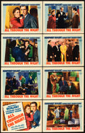 "Movie Posters:Film Noir, All Through the Night (Warner Brothers, 1942). Lobby Card Set of 8(11"" X 14"").. ... (Total: 8 Items)"