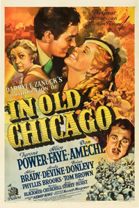 "In Old Chicago (20th Century Fox, 1937). One Sheet (27"" X 41"") Style B. From the collection of Wade Williams..."