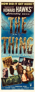 "Movie Posters:Science Fiction, The Thing from Another World (RKO, 1951). Insert (14"" X 36"").From the collection of Wade Williams.. ..."