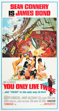 """You Only Live Twice (United Artists, 1967). Three Sheet (41"""" X 81"""")"""