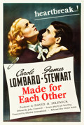 "Movie Posters:Drama, Made for Each Other (United Artists, 1939). One Sheet (27"" X 41"")....."