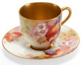 Ceramics & Porcelain, A CASED SET OF ROYAL WORCESTER PORCELAIN DEMITASSE CUPS AND SAUCERS PAINTED BY K. BLAKE . Worcester, England, circa 1900. Ma... (Total: 12 Items)