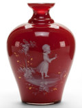 Art Glass:Other, A CONTINENTAL CASED GLASS VASE . Circa 1900. Marks: 13.4-3/8 inches high (11.0 cm). ...