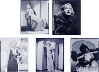 """Carole Lombard (Paramount, 1930's). Nitrate Negatives (5) (8"""" X 10""""). ... (Total: 5 Items)"""