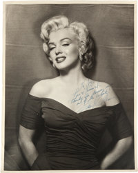 A Marilyn Monroe Signed Black and White Photograph, Circa 1956