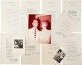 Movie/TV Memorabilia:Autographs and Signed Items, A Joan Crawford Collection of Signed Letters, 1942-1945....