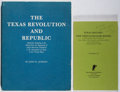 Books:Reference & Bibliography, John Jenkins. Group of Two Books Relating to Texana. Jenkins,1980-1986. Very good or better condition.... (Total: 2 Items)