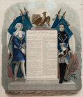 Prints, CONSTITUTION DE LA REPUBLIQUE FRANCAISE . 1795. Etching. 17x 13-3/4 inches (43.2 x 34.9 cm). Etched by ...