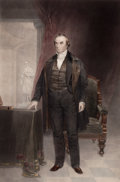 Prints, CHESTER HARDING (American, 1792-1866). Portrait of DanielWebster. Mezzotint. 25 x 17 inches (63.5 x 43.2 cm). Elton H...