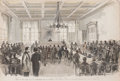 Prints, TRIAL OF MRS. EMMA AUGUSTA CUNNINGHAM FOR THE MURDER OF DR.BURDELL . 10 x 14-3/4 inches (25.4 x 37.5 cm). Etche...