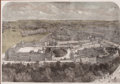 Prints, BIRDSEYE VIEW OF WINDSOR CASTLE . 9-3/4 x 14 inches (24.8 x35.6 cm). Etched by M. Jackson. Elton Hyder III Collection...