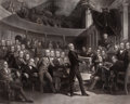 "Prints, THE UNITED STATES SENATE, A.D. 1850 ""DEBATING THE COMPROMISE OF1850"". 19th century. 29 x 35 inches (73.7 x 88.9 cm). Engra..."