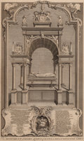 Prints, THE MONUMENT OF MARY QUEEN OF SCOTS IN WESTMINSTER ABBEY .15-1/4 x 9-1/2 inches (38.7 x 24.1 cm). Engraved by Gravelot...
