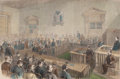 Fine Art - Work on Paper:Print, THE SENTENCING OF EDWARD B. KETCHUM. January 20, 1866. 9-1/2 x 14-1/2 inches (24.1 x 36.8 cm). Harper's ...