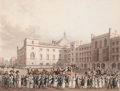 Prints, THE QUEEN RETURNING FROM THE HOUSE OF LORDS . 1821. 12 x 15inches (30.5 x 38.1 cm). Engraved by Dubourg. Elton Hyder ...