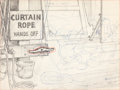 Animation Art:Production Drawing, Mickey Mouse Background Drawing Animation Art (Disney,undated)....