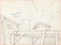 Animation Art:Production Drawing, Minnie Mouse Background Drawing Animation Art (Disney, undated)....