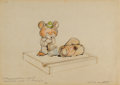 Animation Art:Production Drawing, F. H. Horvath Bear Ceramic Figurine Concept Drawing Animation Art(undated)....
