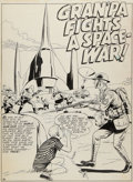 "Original Comic Art:Splash Pages, Sid Greene Strange Adventures #141 ""Gran'pa Fights aSpace-War"" Splash Page 1 Original Art (DC, 1962)...."