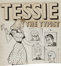 Original Comic Art:Covers, Unpublished Tessie the Typist Partial Cover Original Art (c.1949)....