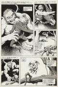 Original Comic Art:Panel Pages, Ralph Reese Monsters Unleashed #1 Solomon Kane Page OriginalArt Group (Marvel, 1973).... (Total: 5 Items)