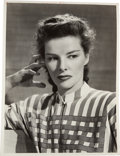 Movie/TV Memorabilia:Photos, A Katharine Hepburn Black and White Photograph by Clarence SinclairBull, 1947....