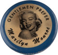 Movie/TV Memorabilia:Memorabilia, A Marilyn Monroe-Related Vintage Lapel Button, 1956....