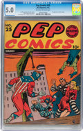Golden Age (1938-1955):Superhero, Pep Comics #25 (MLJ, 1942) CGC VG/FN 5.0 Off-white to white pages....