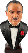 "Movie/TV Memorabilia:Autographs and Signed Items, A Marlon Brando as ""Don Corleone, The Godfather"" Bust, 1997...."