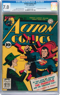 Golden Age (1938-1955):Superhero, Action Comics #51 (DC, 1942) CGC FN/VF 7.0 Cream to off-white pages....