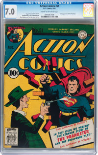 Action Comics #51 (DC, 1942) CGC FN/VF 7.0 Cream to off-white pages