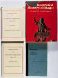 Books:Reference & Bibliography, Group of Four Books About Books Relating to Magic. Various,1920-1978. First edition, first printing. All very good or bette...(Total: 4 Items)
