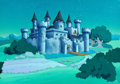 Animation Art:Production Drawing, The Smurfs Hand-Painted Background Animation Art(Hanna-Barbera, 1983)....