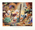 Memorabilia:Disney, Carl Barks A Lithographic Suite of Preliminary Paintings Portfolio 111/500 (Another Rainbow, 1986)....