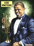 Original Comic Art:Miscellaneous, Robert Crumb Louis Armstrong Limited Edition Signed Artist's Proof Serigraph Print 6/10 (2010)....