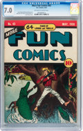 Golden Age (1938-1955):Miscellaneous, More Fun Comics #43 (DC, 1939) CGC FN/VF 7.0 Off-white to white pages....