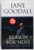 Books:Biography & Memoir, Jane Goodall. INSCRIBED. Reason for Hope. Warner, 1999. First edition, first printing. Signed and inscribed by...